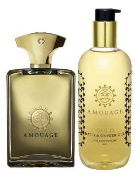 Amouage Gold For Men набор (п/вода 100мл   гель д/душа 300мл)