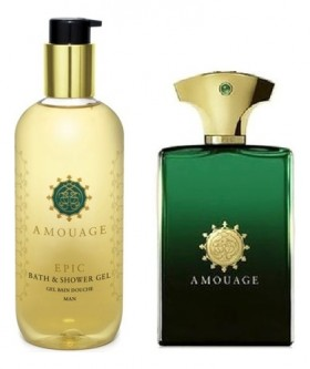 Amouage Epic For Men набор (п/вода 100мл   гель д/душа 300мл)